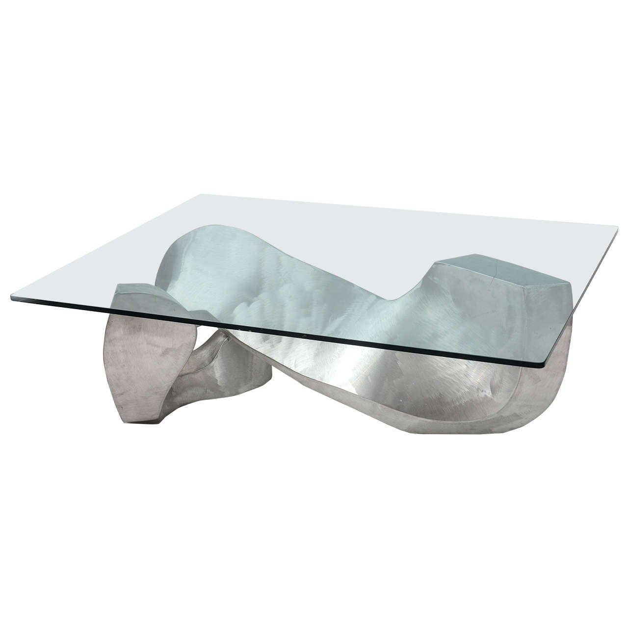 Bill Barrett Fabricated Aluminum Sculpture Coffee Table For Sale