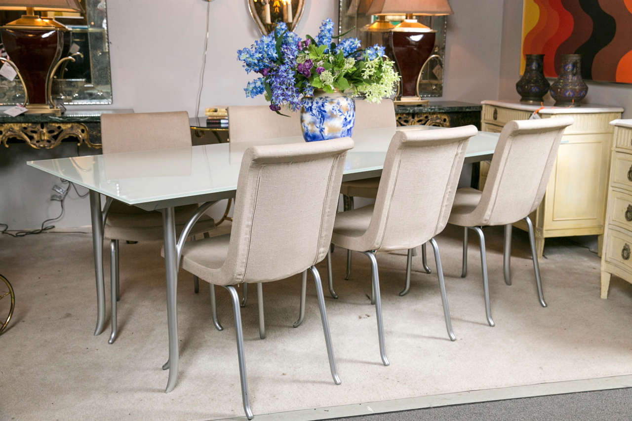 Modern Roche Bobois Dining Table With Extendable Leave For