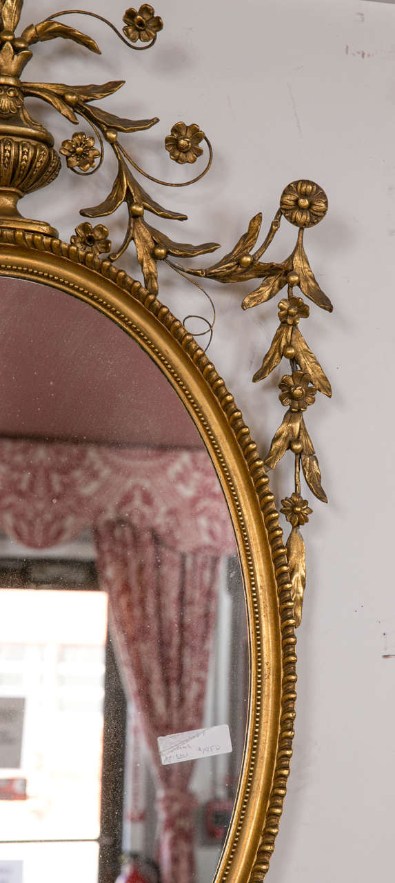 Antique Oval Gilt Gold Georgian Mirror At 1stdibs