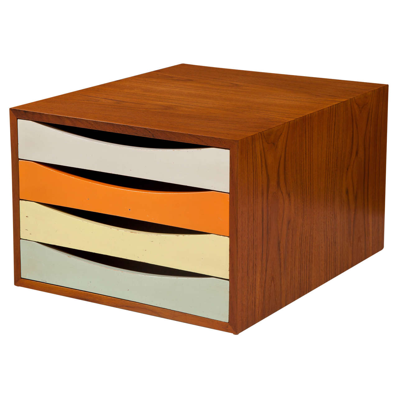 Finn juhl four drawer teak desk console at 1stdibs