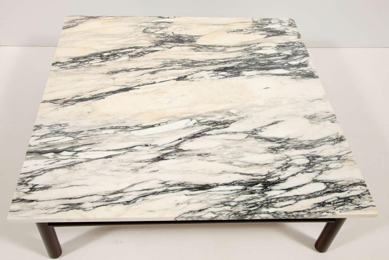 Robsjohn-Gibbings Walnut and Marble Coffee Table 6