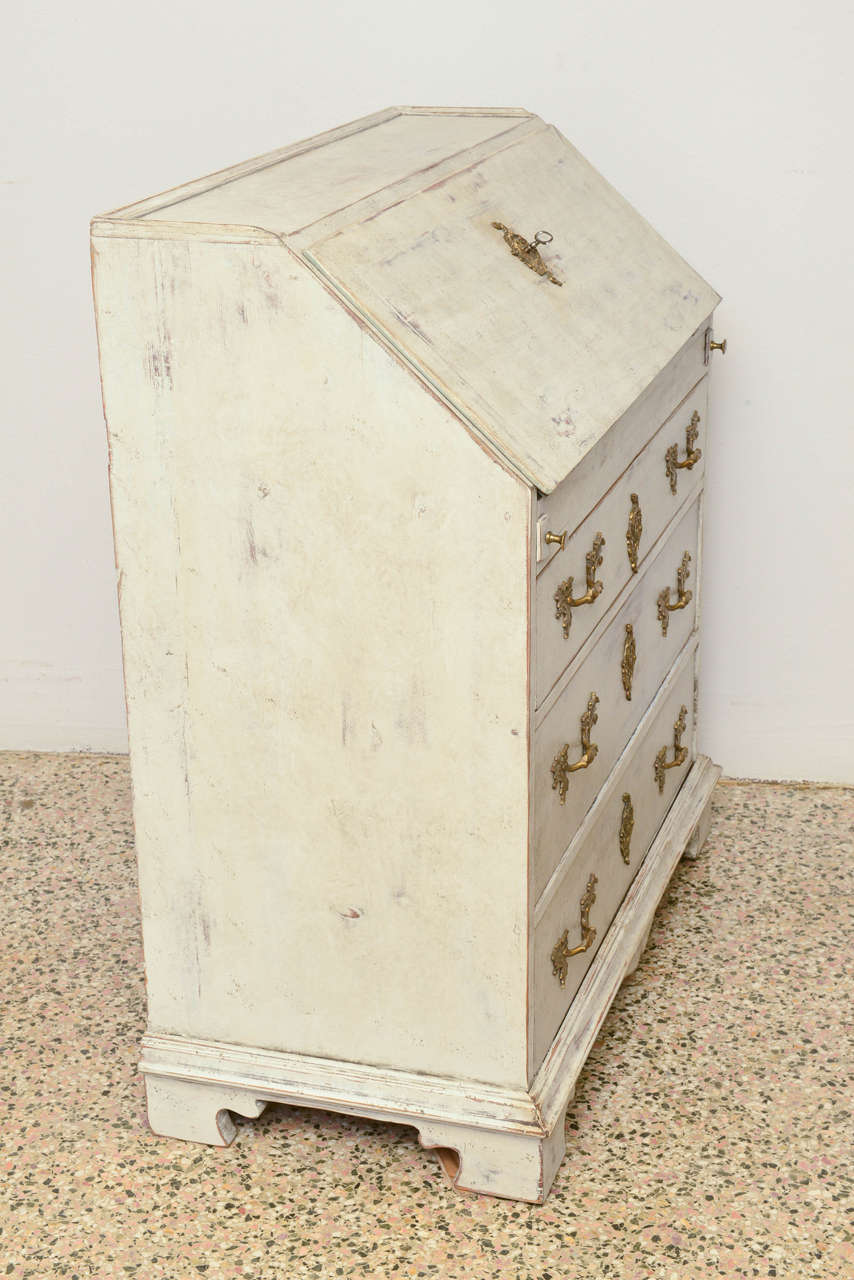 19th Century Antique Swedish Slant Desk Image 9