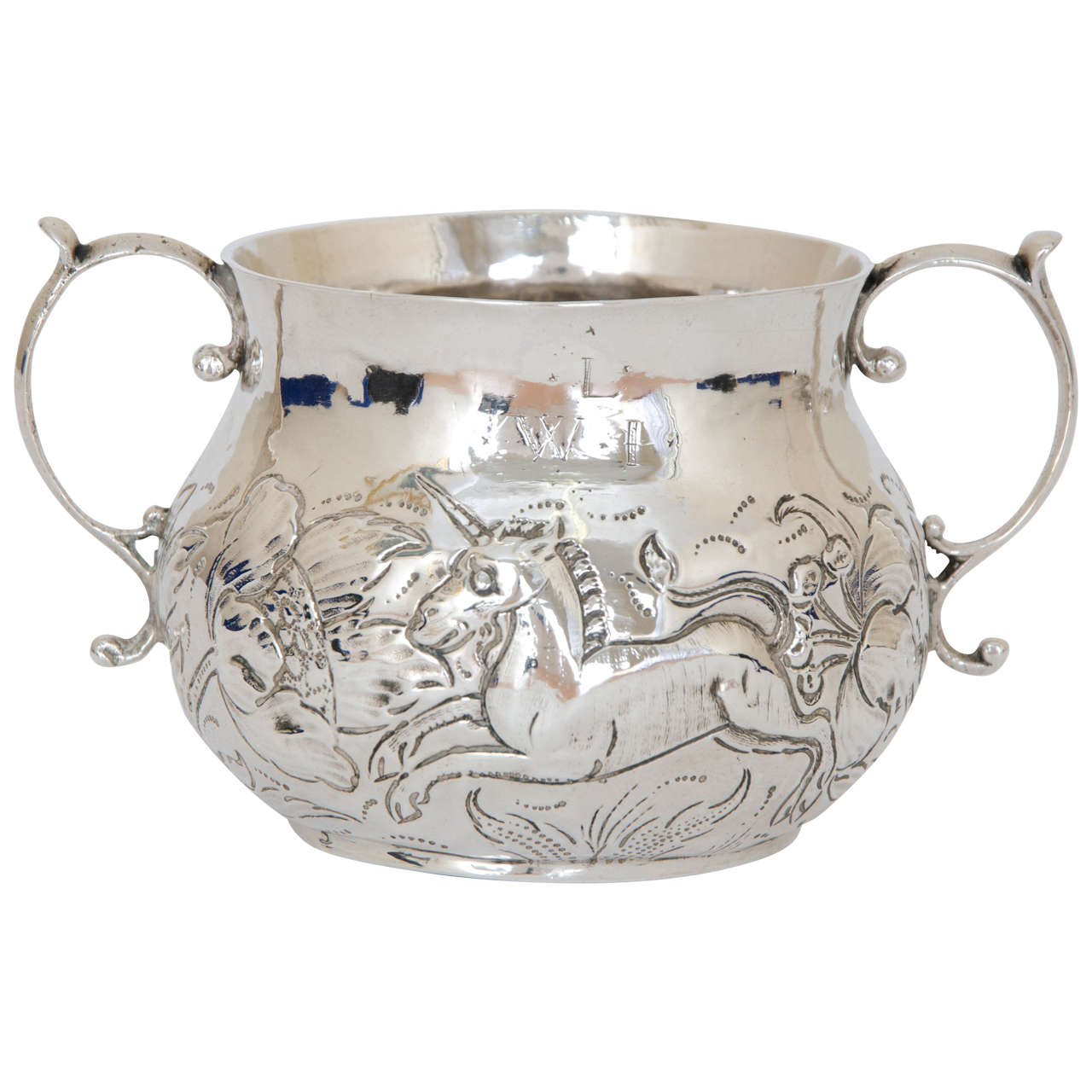 A Charles Ii Antique Silver Porringer At 1stdibs