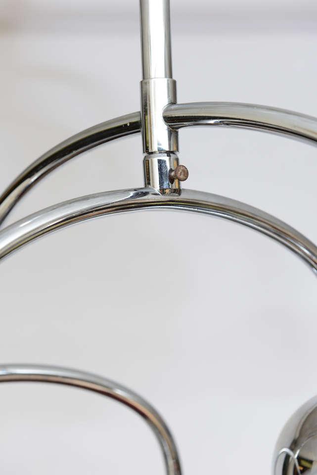 Mid-20th Century Robert Sonneman Seven-Light Chrome Tiered Chandelier For Sale