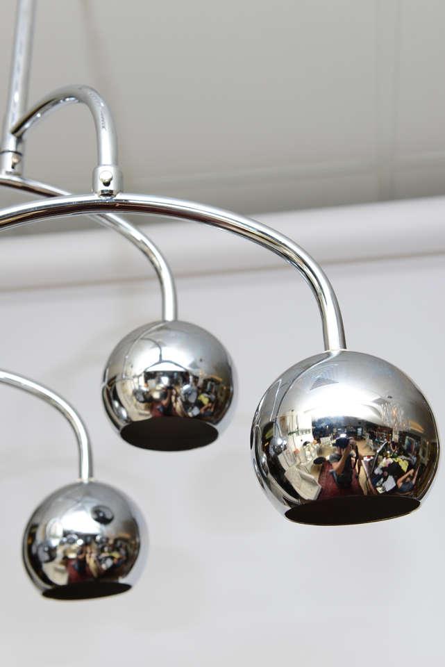 Robert Sonneman Seven-Light Chrome Tiered Chandelier For Sale 3