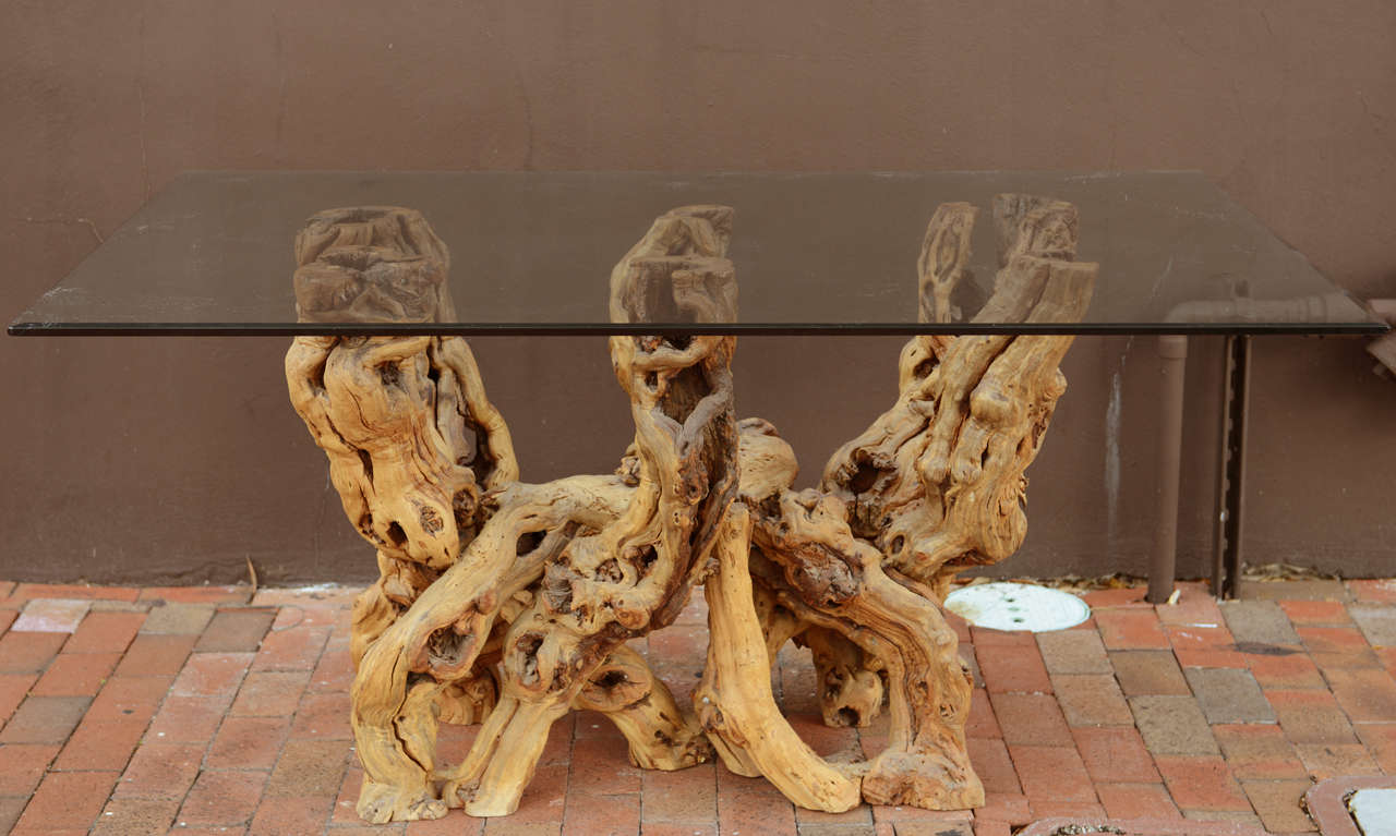 Michael taylor cyprus tree trunk dining table at 1stdibs - A Cypress Root Base Table 3