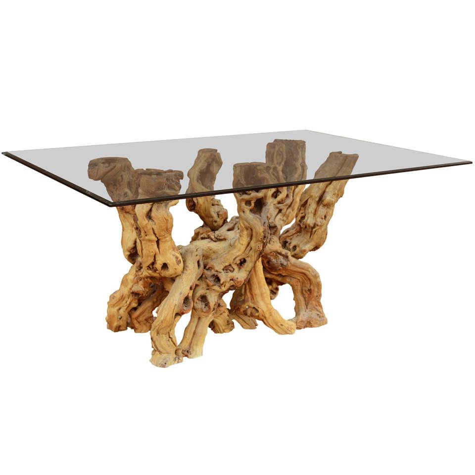 a cypress root base table at 1stdibs. Black Bedroom Furniture Sets. Home Design Ideas