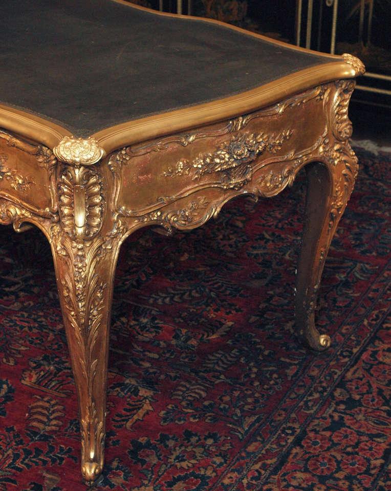 antique french louis xv gold leaf bureau plat circa 1880. Black Bedroom Furniture Sets. Home Design Ideas