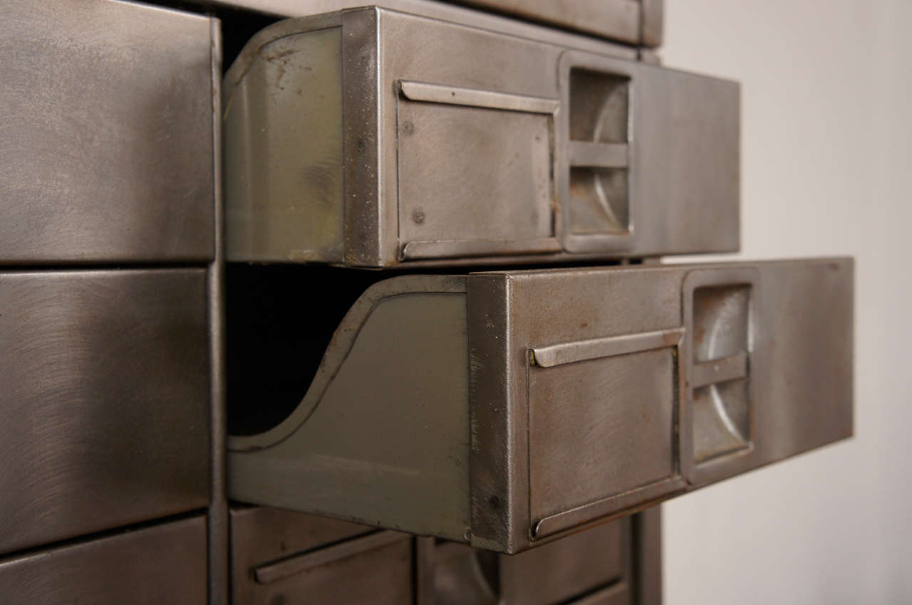 American mid century industrial 3 Piece Apothecary Cabinet For Sale