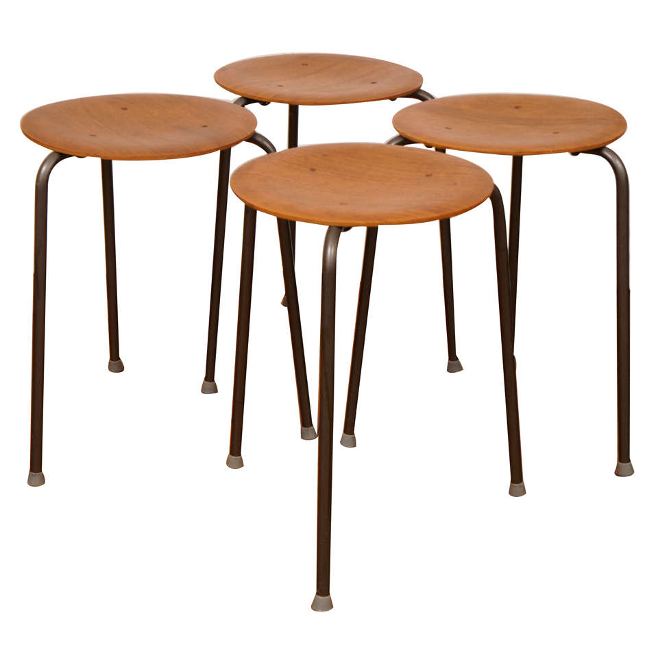 Mid Century Danish Nesting Table Or Stools 4 At 1stdibs