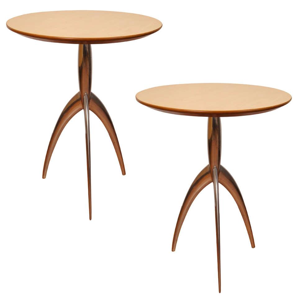 Pair od Italian Jolly Tripod Tables by Magis