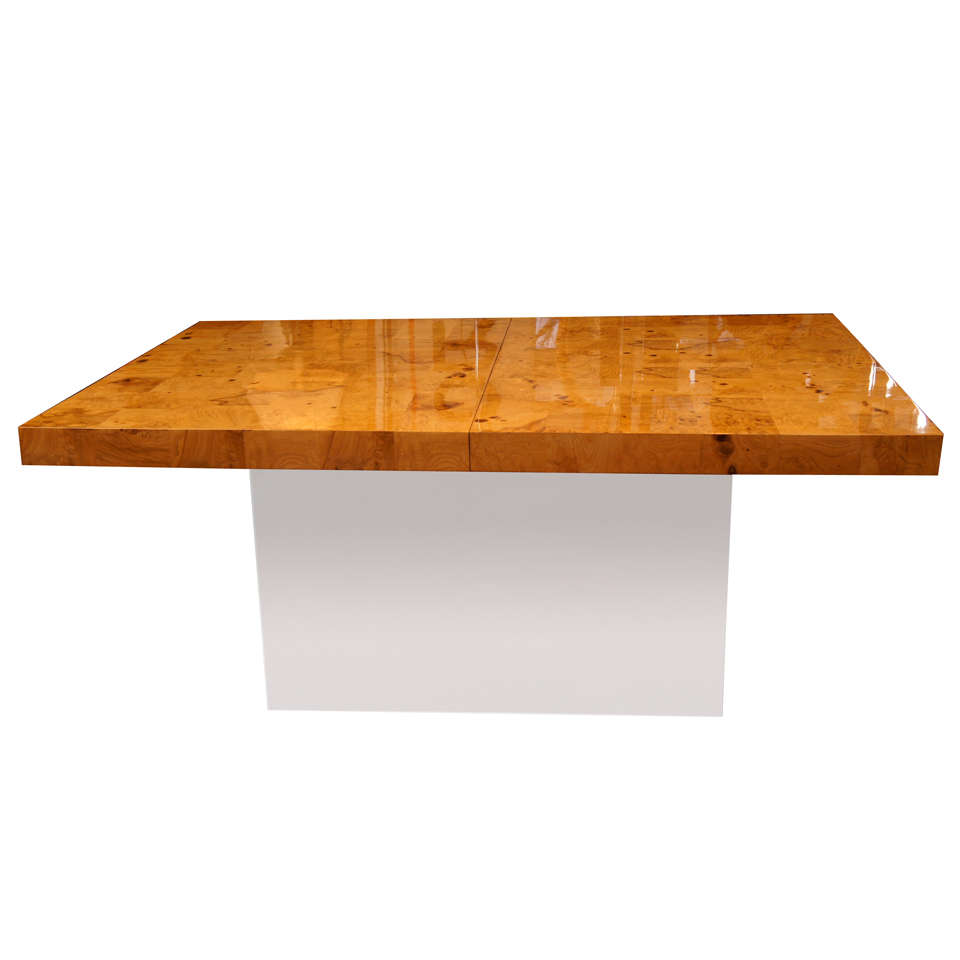 Milo Baughman Burl Patchwork Dining Table