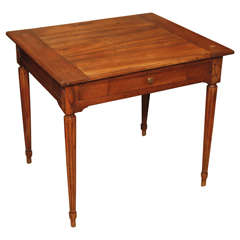 Louis XVI Walnut Side Table