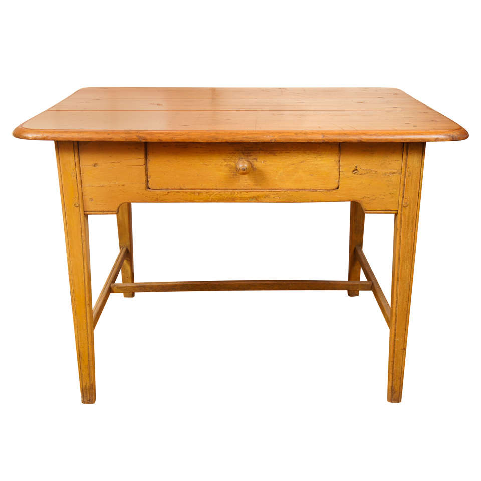 Canadian table in yellow paint at 1stdibs for Yellow painted table