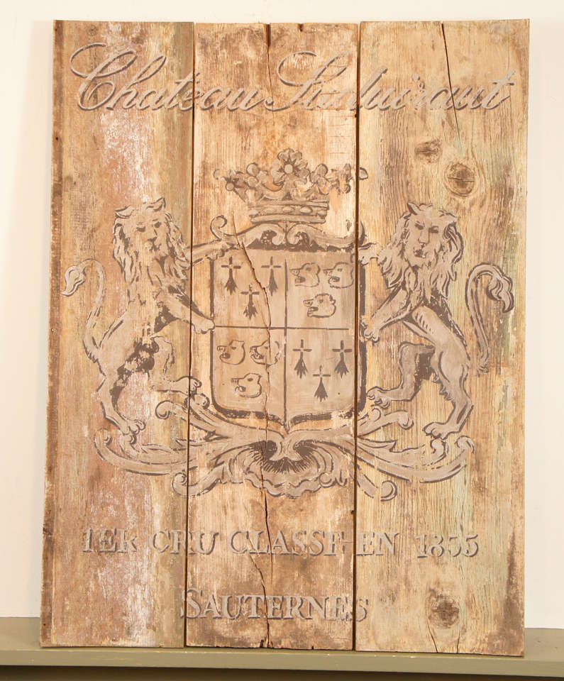 French Wooden Wine Sign/Sauternes 2