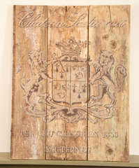 French Wooden Wine Sign/Sauternes image 2