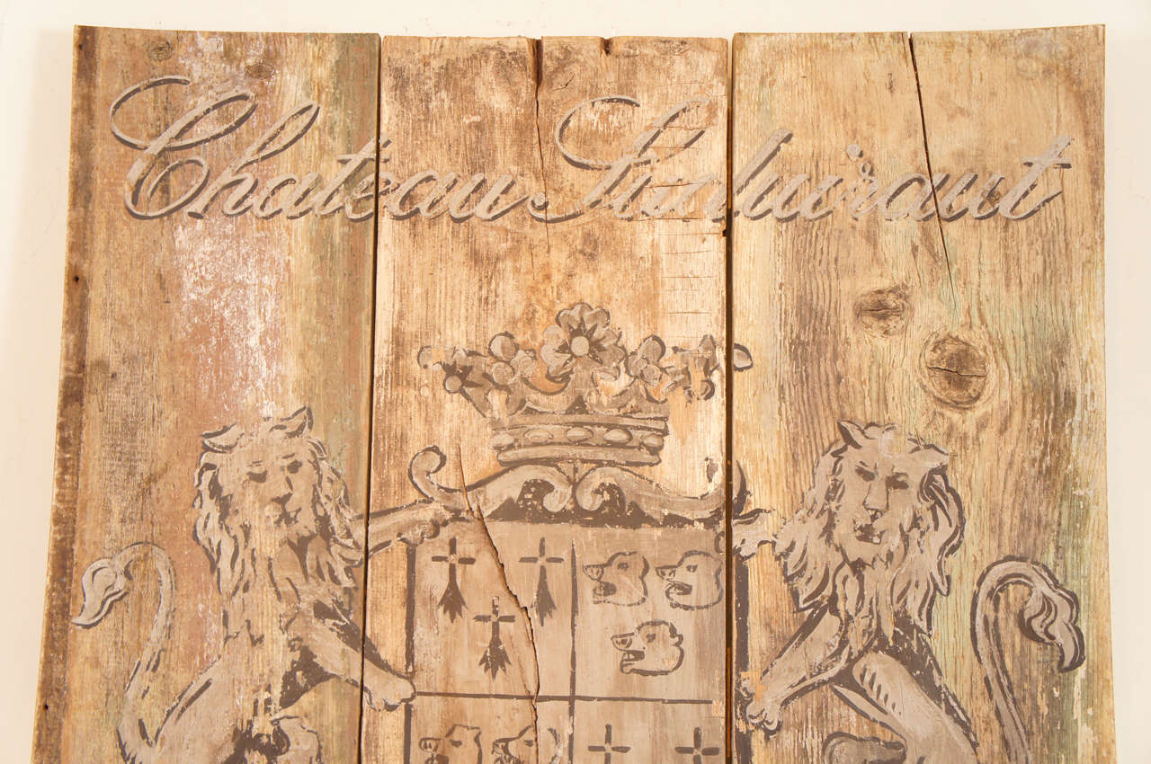 French Wooden Wine Sign/Sauternes 4