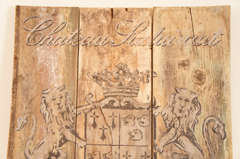 French Wooden Wine Sign/Sauternes image 4