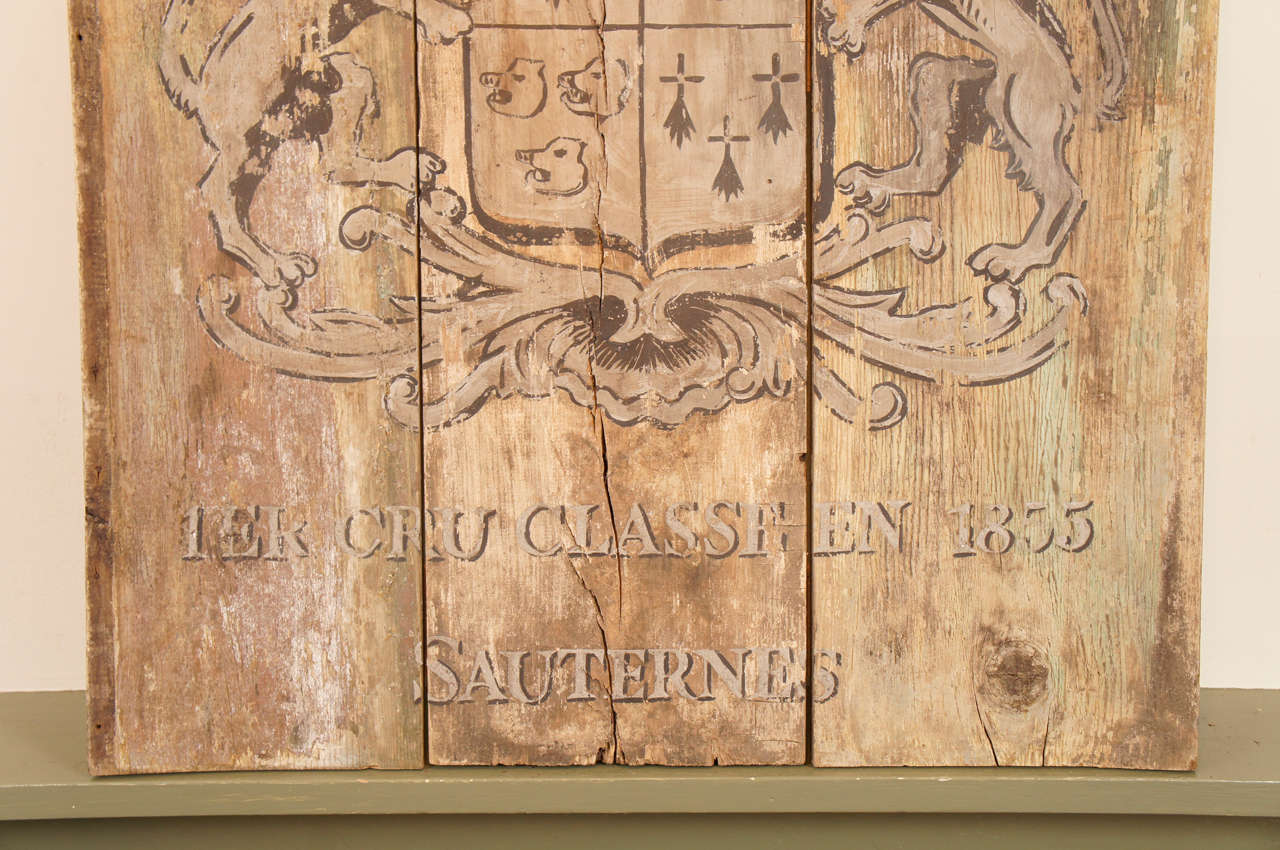 French Wooden Wine Sign/Sauternes 5