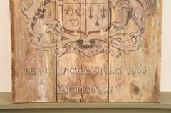 French Wooden Wine Sign/Sauternes image 5