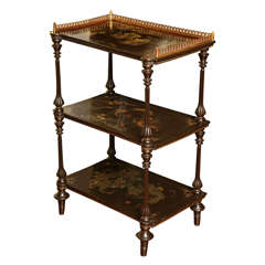Antique Chinese Export Lacquer Etagere, 19th century