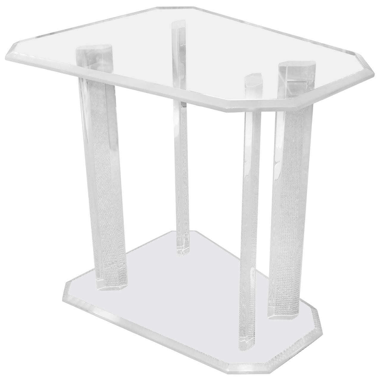 Lucite Side Table Pedestal At 1stdibs