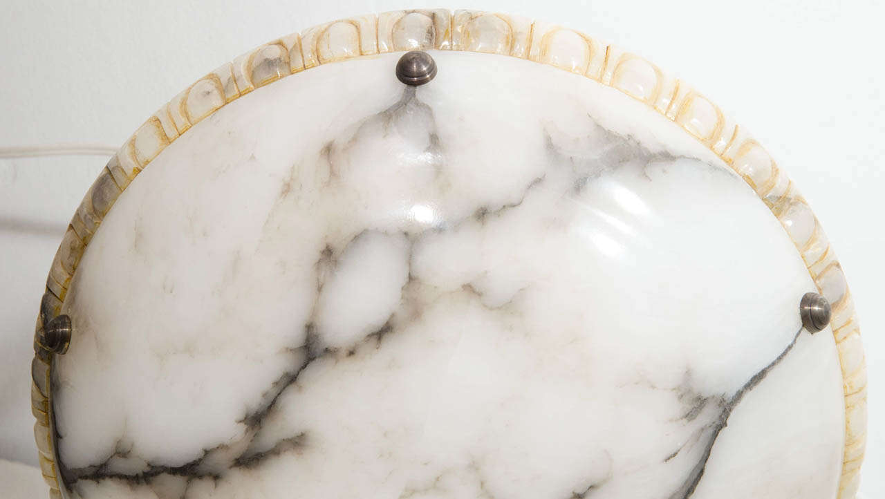 20th Century Alabaster Light Fixture For Sale