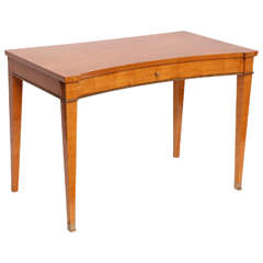 Jacques Quinet, Maple Writing Table, France, circa 1940