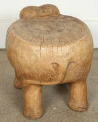 Elephant Stool, Hand-carved Wood image 6