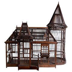 19th Century Carpenter Masterpiece Bird Cage