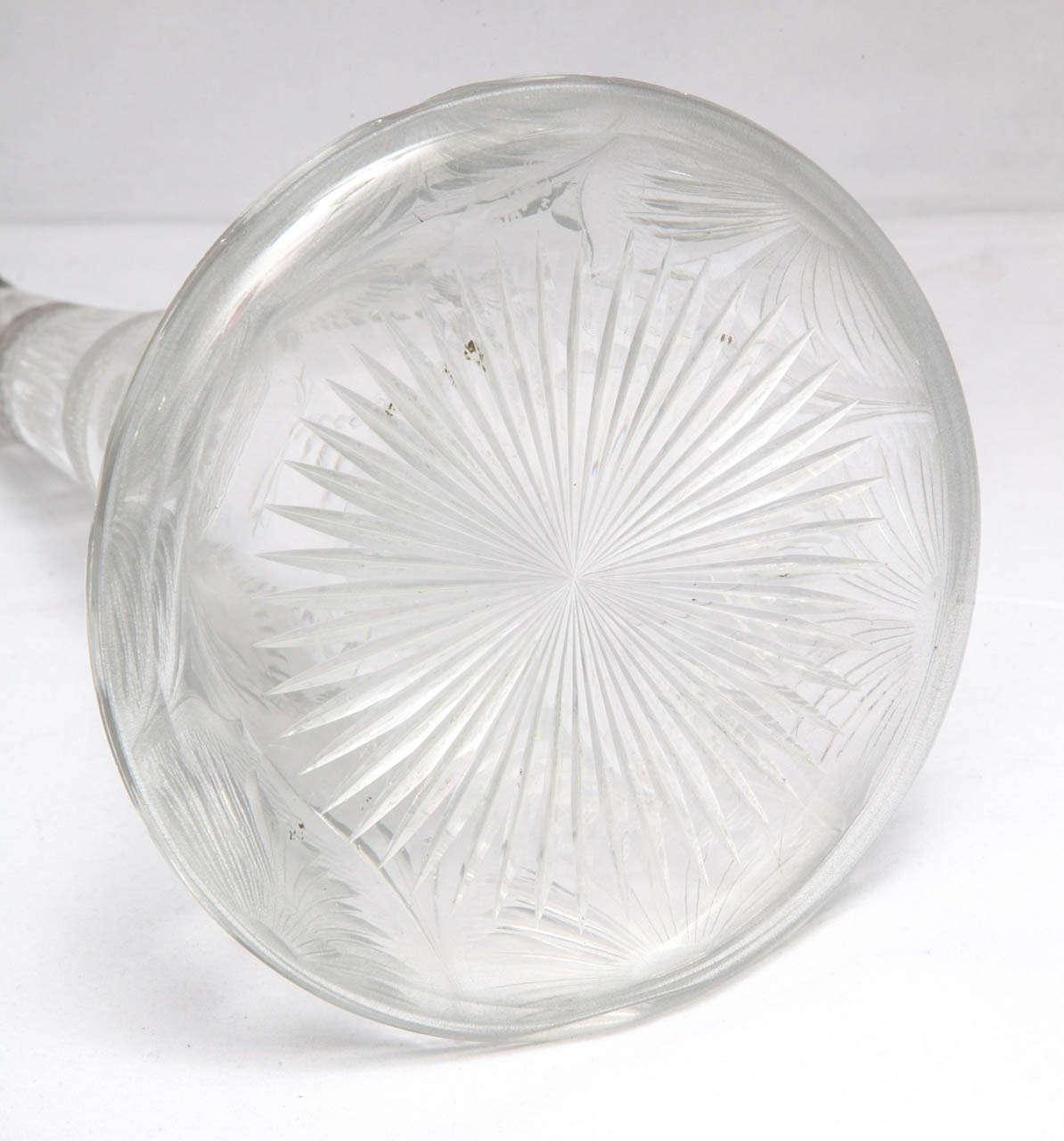 19th Century Very Rare Tall Sterling Silver-Mounted Tiffany & Co. Decanter For Sale