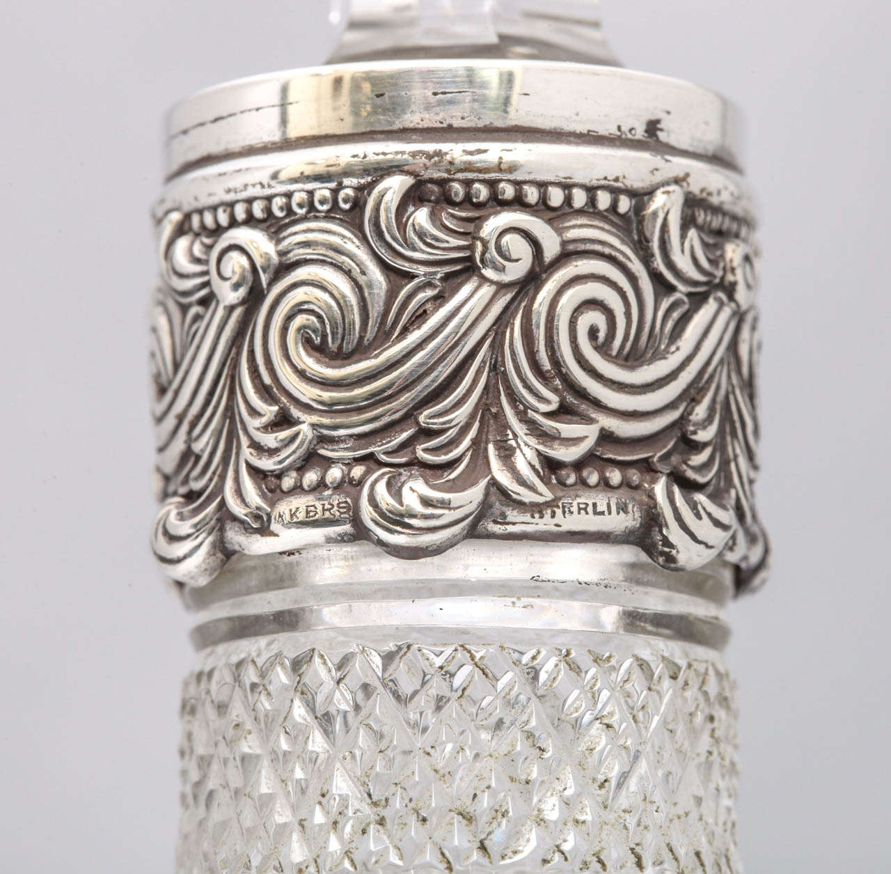 Very Rare Tall Sterling Silver-Mounted Tiffany & Co. Decanter For Sale 3
