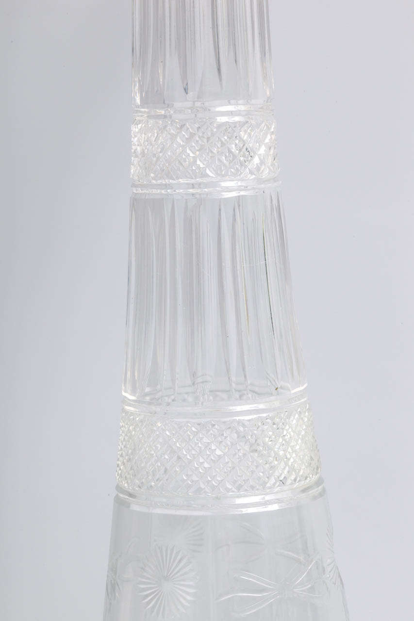 Very Rare Tall Sterling Silver-Mounted Tiffany & Co. Decanter For Sale 4