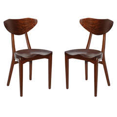 Mahogany Dining Chairs Chairs by Larsen