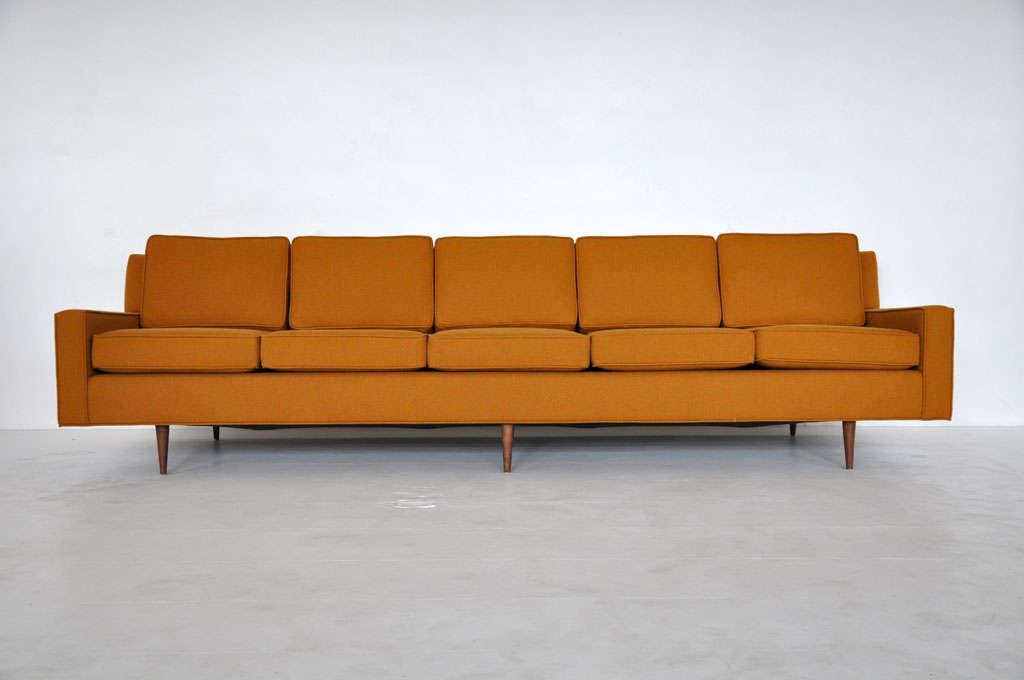 9 ft long mid century sofa at 1stdibs. Black Bedroom Furniture Sets. Home Design Ideas