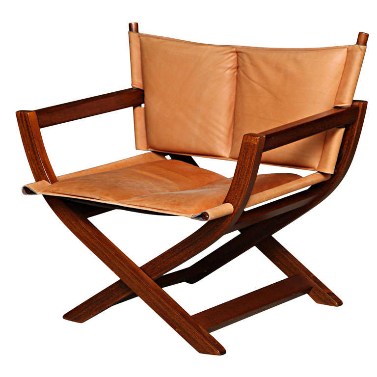 Hardwood And Leather Folding Chair at 1stdibs : x from 1stdibs.com size 768 x 768 jpeg 52kB