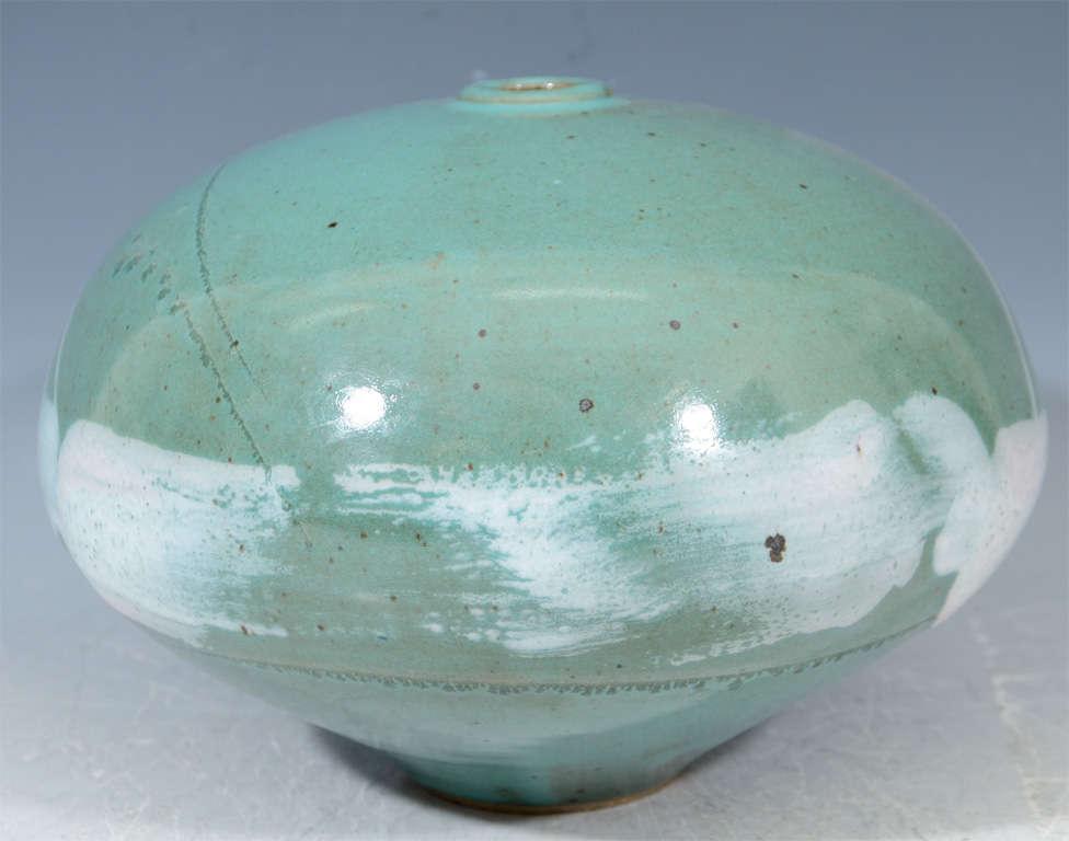 Mid Century Japanese Studio Ceramic Vase For Sale 3