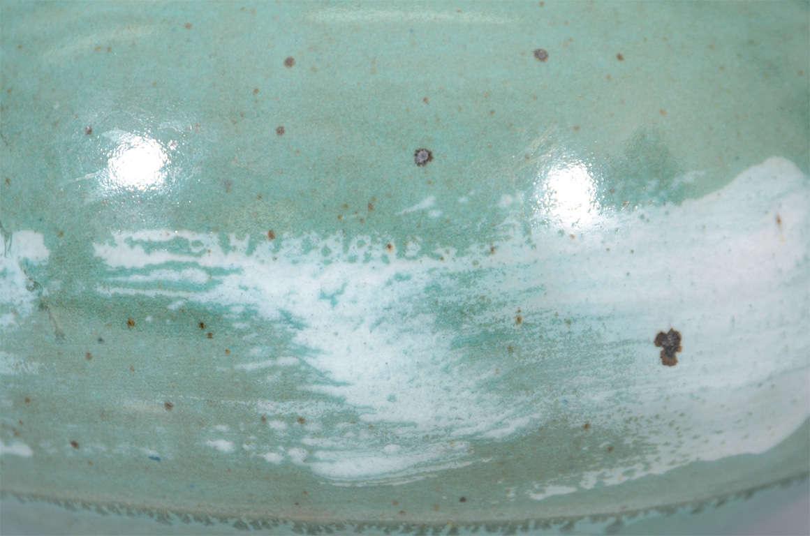 Mid Century Japanese Studio Ceramic Vase For Sale 5