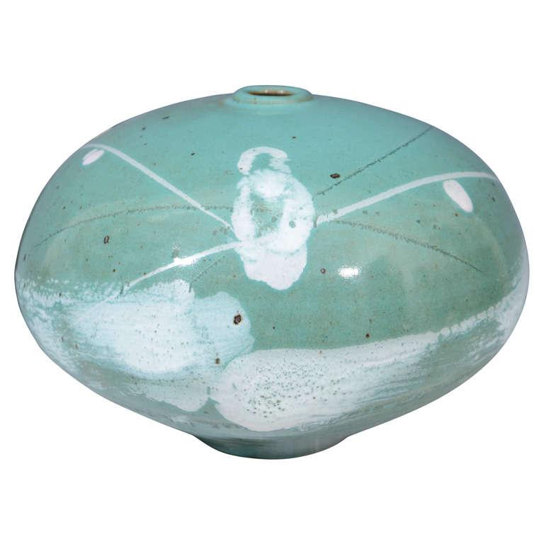 Mid Century Japanese Studio Ceramic Vase