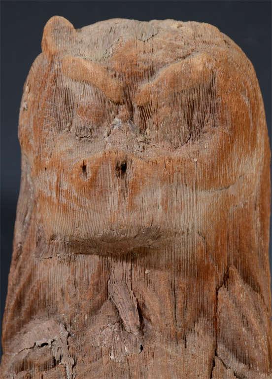 Pair of Antique Japanese Wooden Temple Lion Figures For Sale 1