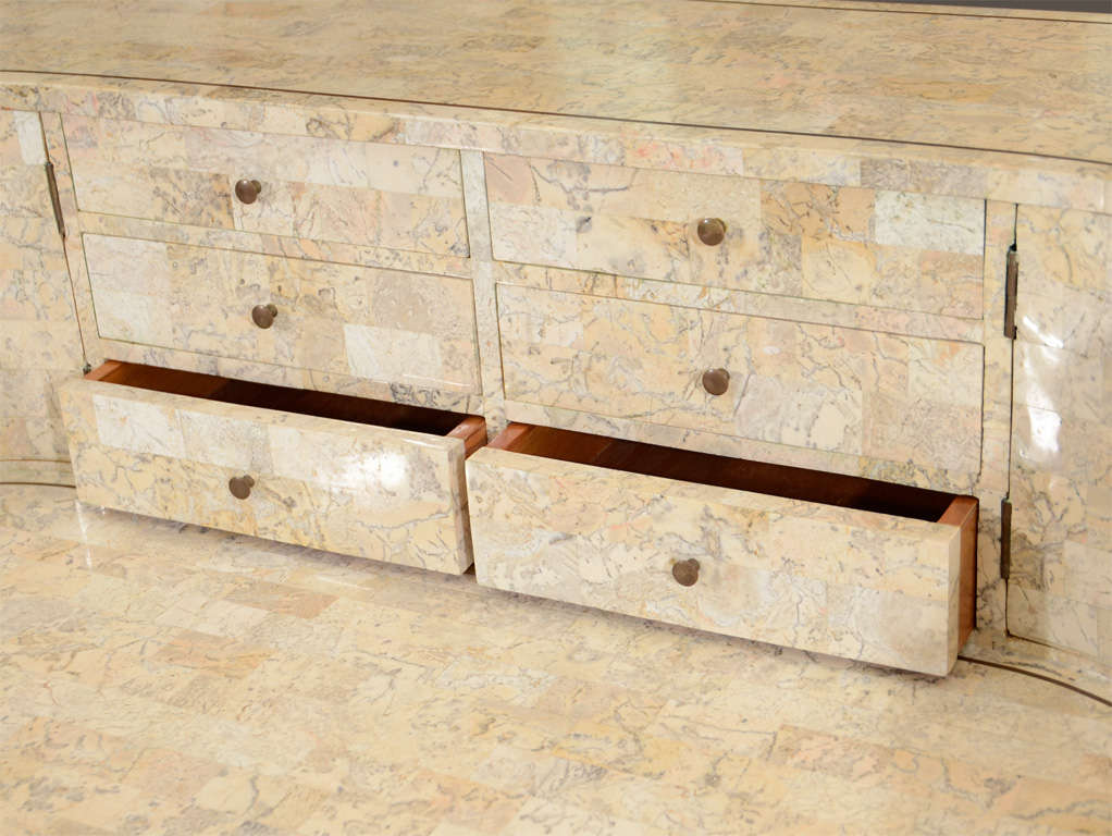 Vintage Writing Desk In Tessellated Stone By Maitland Smith At 1stdibs