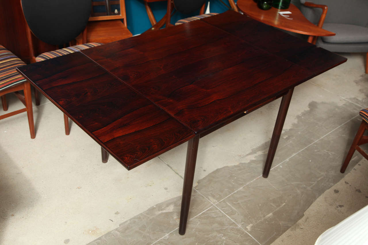 Square Rosewood Dining Table With Pull Out Leaves Image 2