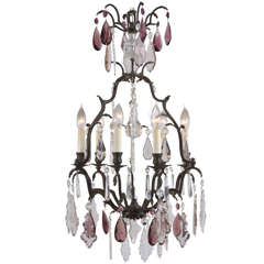 French Bronze Louis XVI style, Versaille 5 light Chandelier