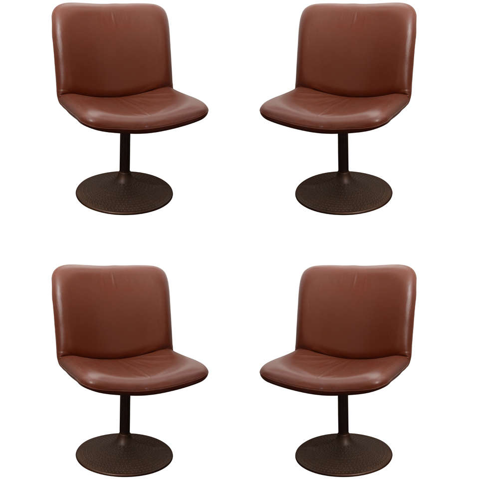 Set of Four Swivel Chairs by Tapiovaara