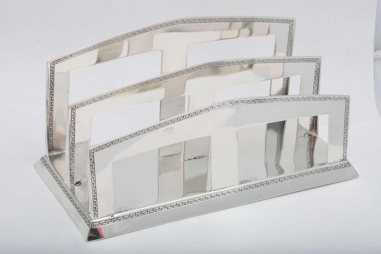 Art deco sterling silver letter rack at 1stdibs for Furniture 5 letters