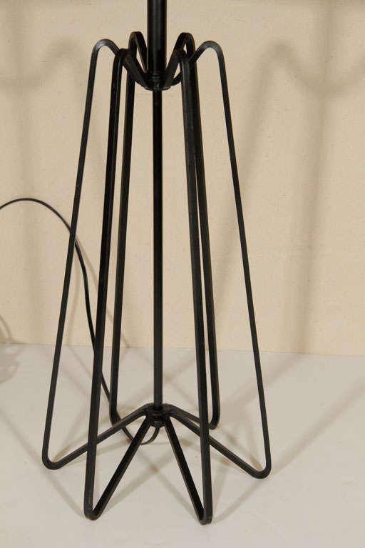 Mid Century Iron Patio Chairs: Mid Century Wrought Iron Lamp At 1stdibs