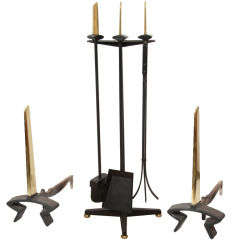 Set of Fireplace Tools by Donald Deskey