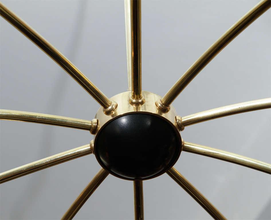 Mid Century 10-arm Stilnovo Style Spider Chandelier 6