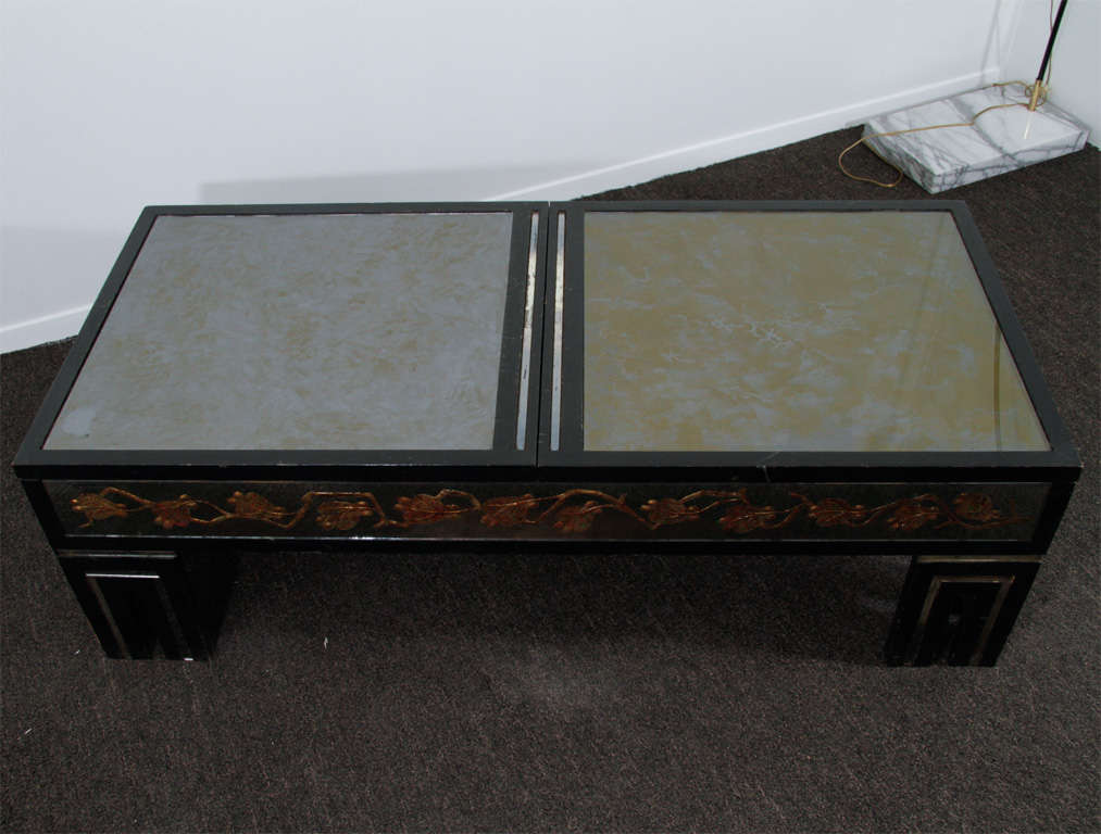 Https Www 1stdibs Com Furniture Tables Coffee Tables Cocktail Tables James Mont Eglomise Mirrored Coffee Table W Hidden Storage Id F 485447