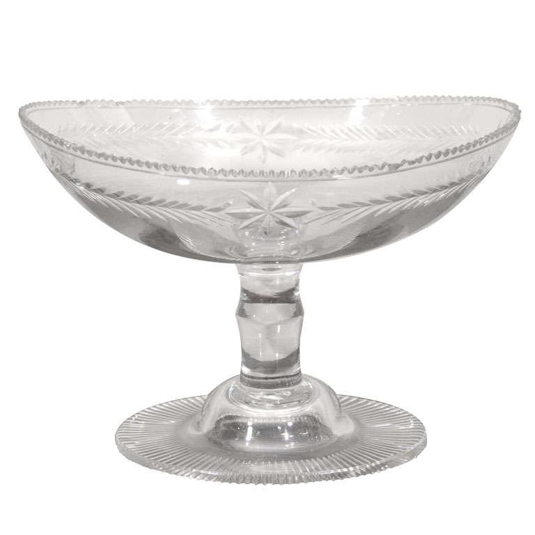 Early 19th Century Irish Cut Glass Compote